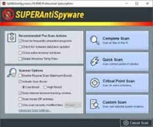 SuperAntiSpyware Professional X Edition